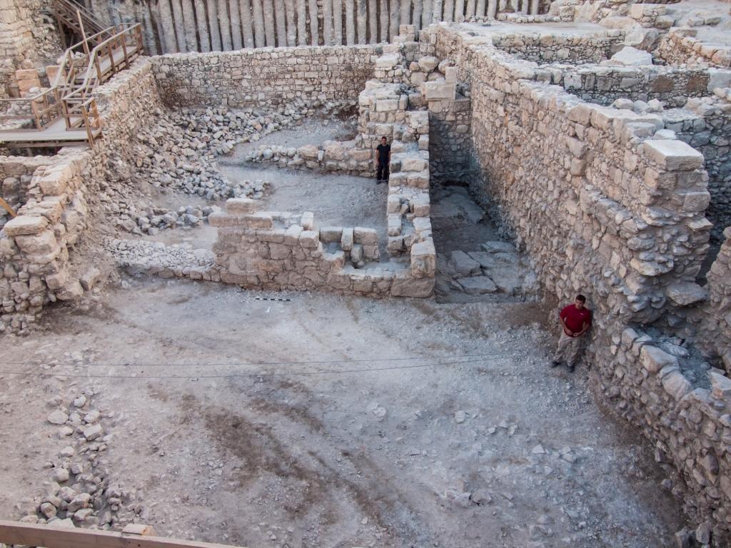 מבנה מהתקופה החשמונאית - לראשונה בעיר דוד ירושלים - צילום: אסף פרץ, באדיבות רשות העתיקות