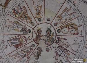 גלגל המזלות כפי שנחשף בבית הכנסת העתיק בבית שאן - צילום: אפי אליאן