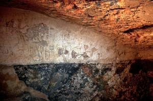 תמונות הכתובות על קירות המקווה - צילום: שי הלוי