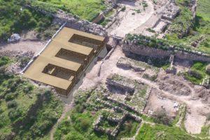 הדמיה של שער העיר בלכיש: אדריכלים רם שואף והילה ברגר און, מנהל השימור ברשות העתיקות