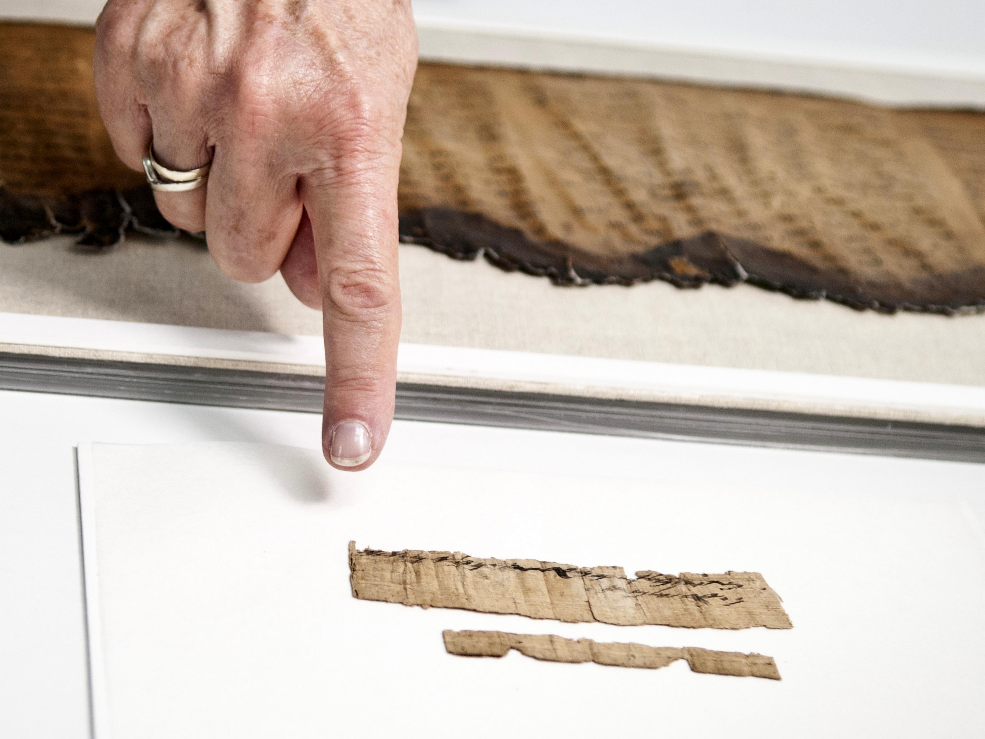 התעודה שמורה במעבדות שימור מגילות מדבר יהודה של רשות העתיקות. צילום: שי הלוי,