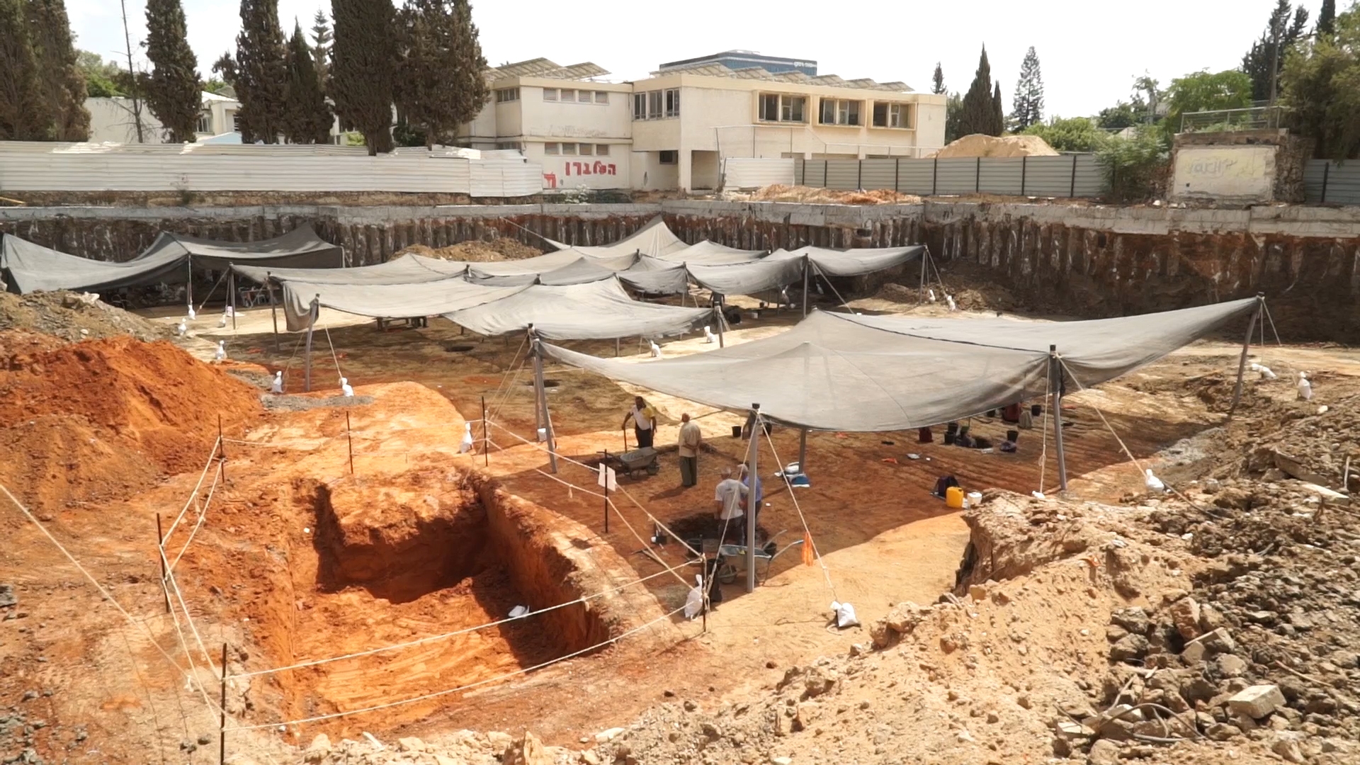 שטח החפירה. צילום: EYECON