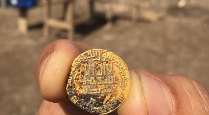 מטבע הזהב. צילום: עומר זידאן, רשות העתיקות
