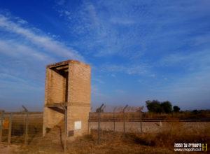 מבנה מגדל המים בתחנת הרכבת נען - צילום: אפי אליאן