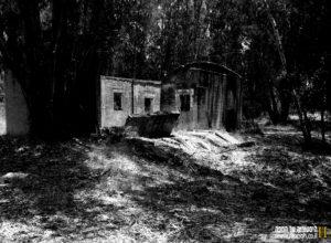 חלקו הדרומי של המבנה החד קומתי שקרס - צילום: אפי אליאן