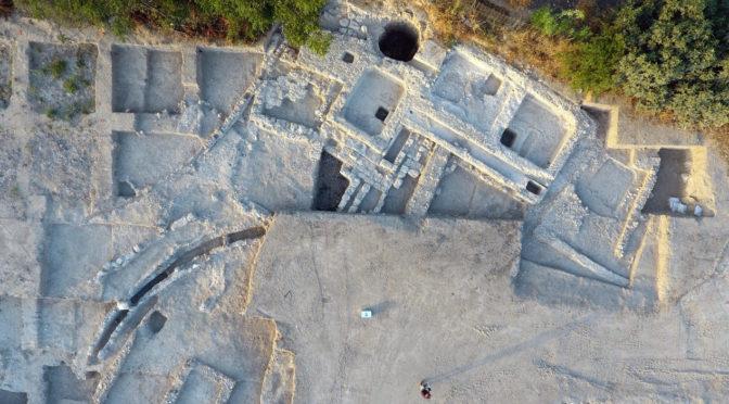איזור תעשיה ובילויים עצום ועתיק נחשף בחפירות רשות העתיקות בגדרה