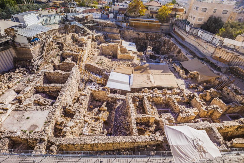 חפירות חניון גבעתי בעיר דוד. צילום: קובי הראתי,