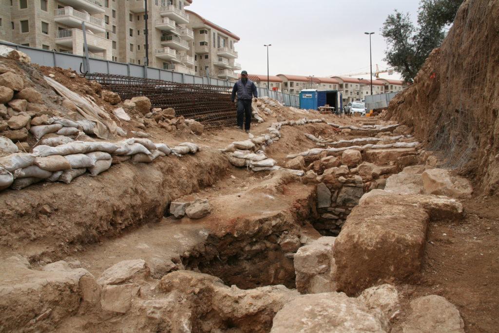 החפירה הארכיאולוגית בבנייני האומה. צילום: יולי שוורץ