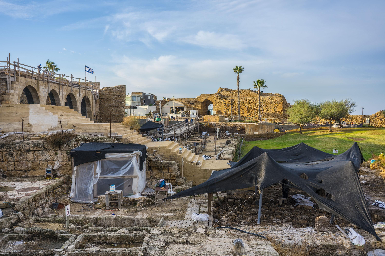 אתר החפירות בקיסריה. צילום: יניב ברמן, באדיבות החברה לפיתוח קיסריה