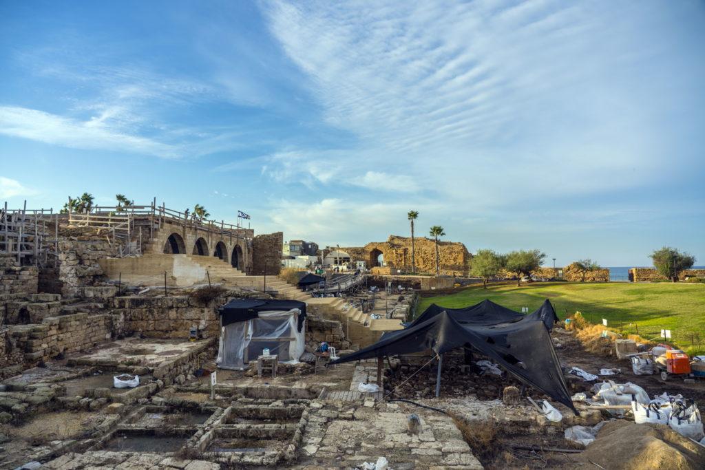 אתר החפירות בקיסריה. צילום: יניב ברמן