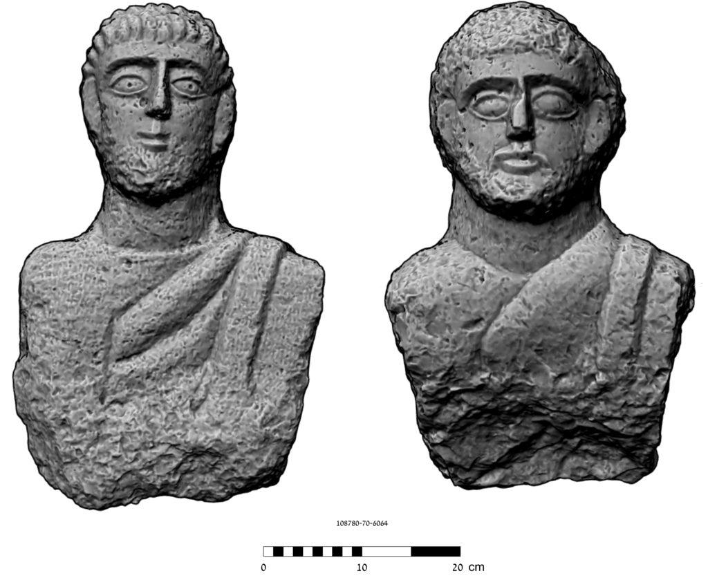 צילום תלת מימד של הפסלים: ארגיטה ג'רמן-לבנון, המעבדה הלאומית לתיעוד ומחקר דיגיטאלי בארכיאולוגיה