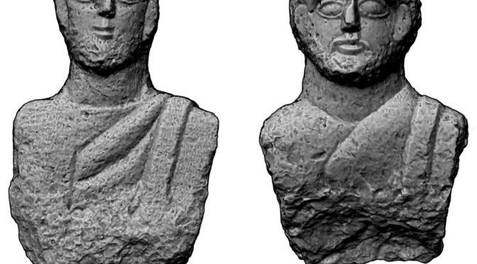 פסלים רומיים עתיקים נמצאו בסמוך לעיר העתיקה של בית שאן