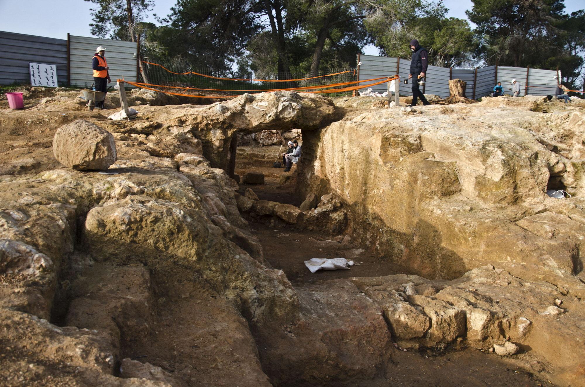 אחוזת הקבר המפוארת מתקופת בית שני. צילום: יולי שוורץ