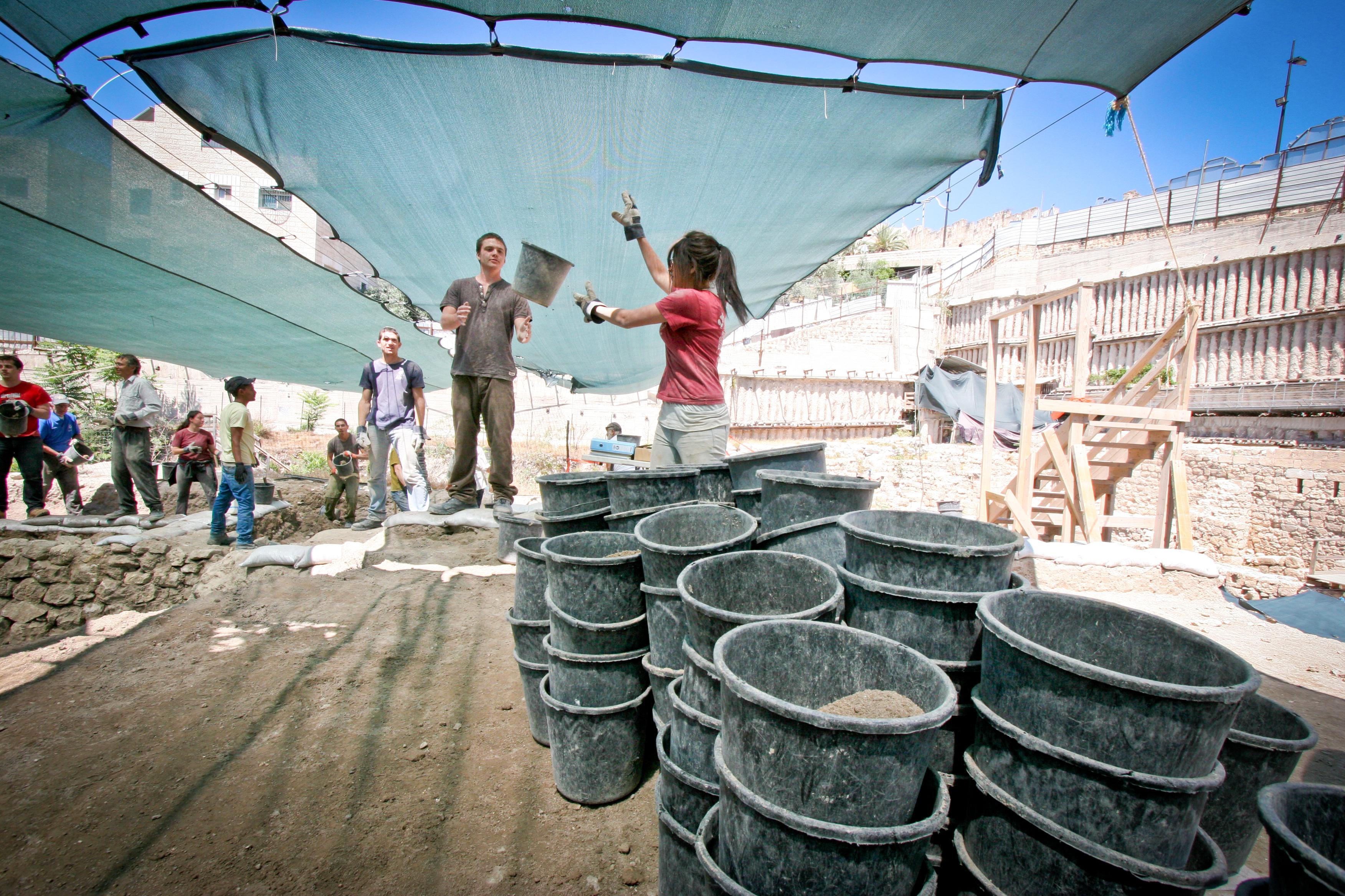 חפירות חניון גבעתי בעיר דוד, צילום: יונית שילר