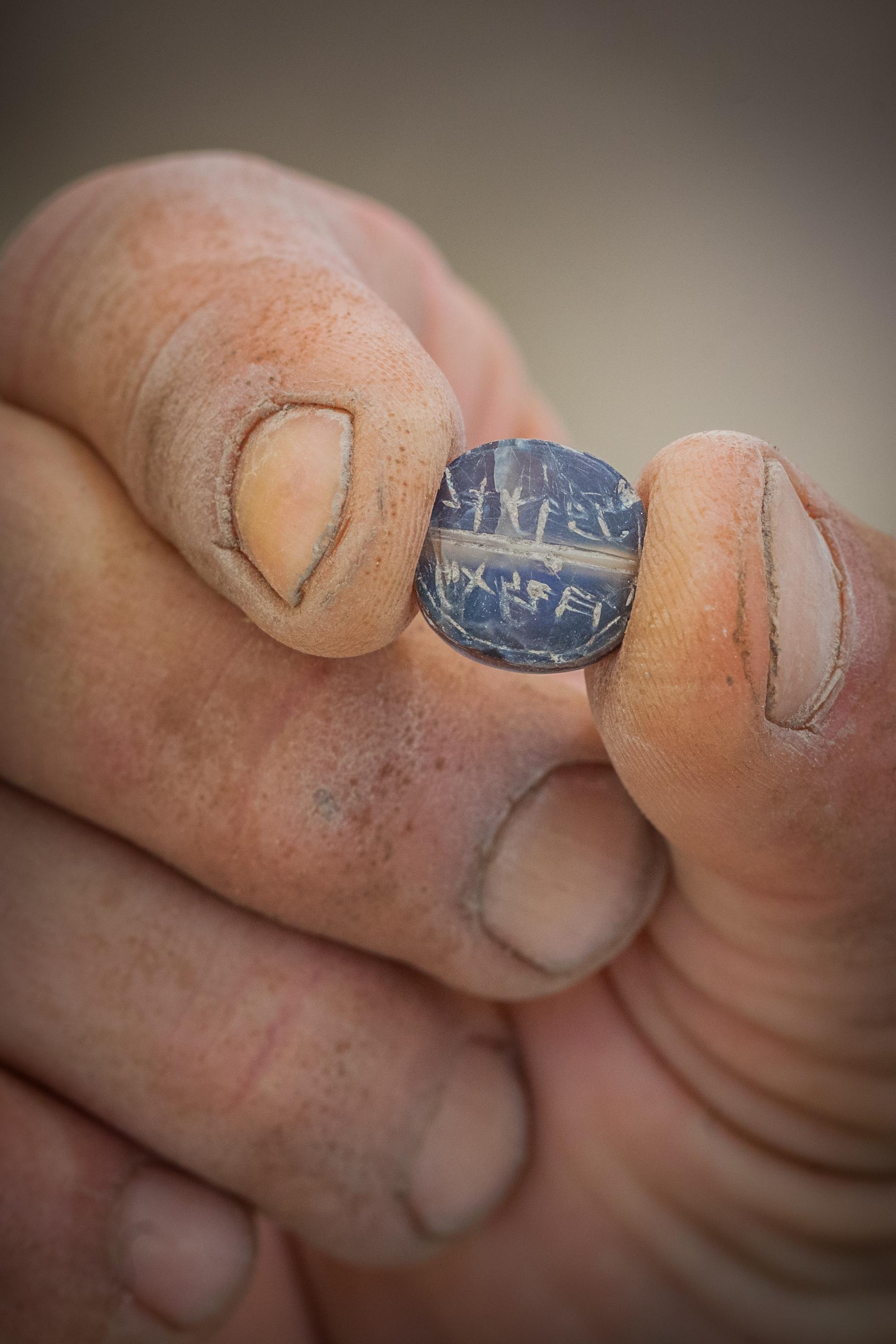 חותם לאכר בן מתניה. צילום: אליהו ינאי