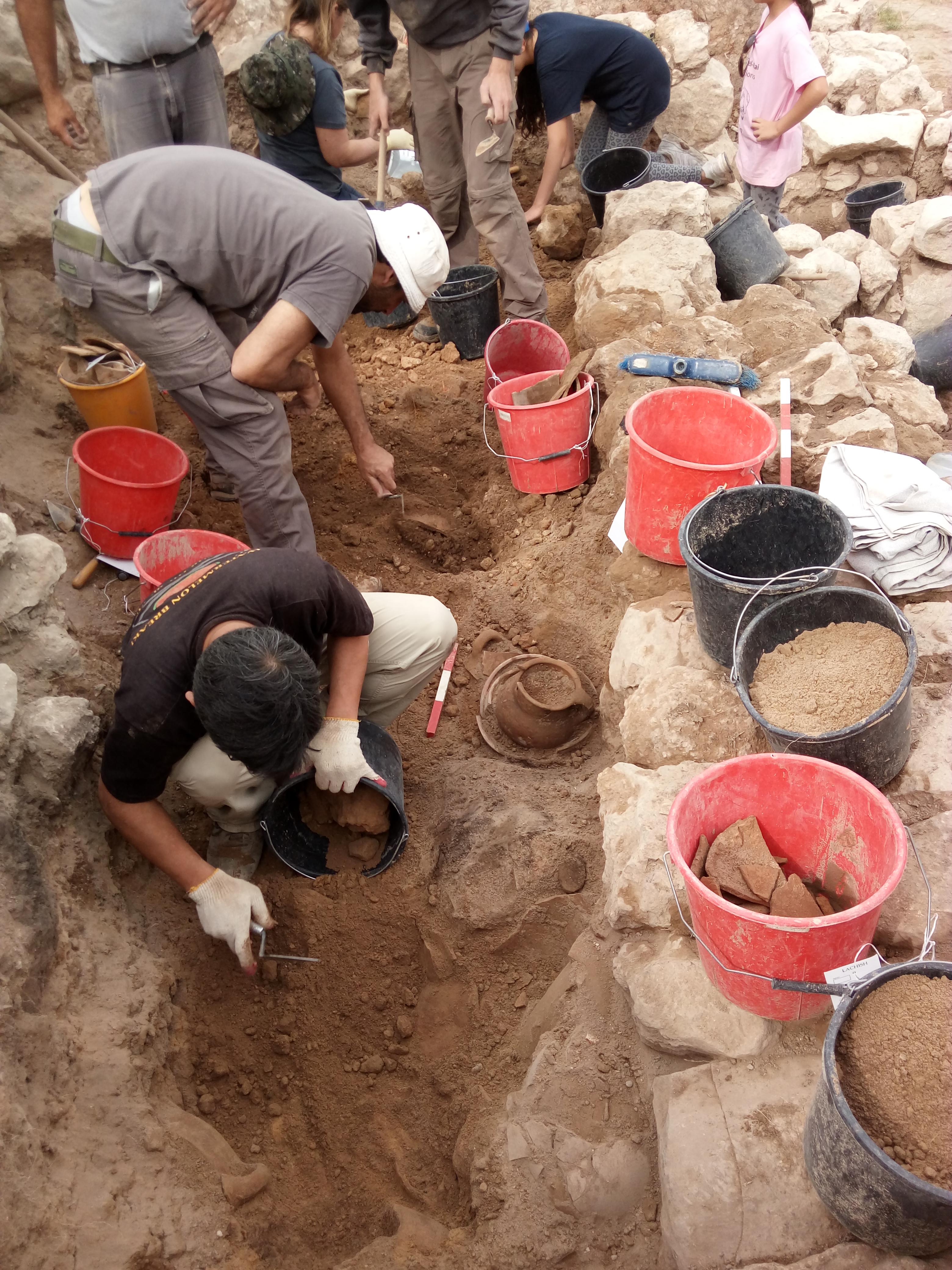 חפירות באתר הקדום צקלג צילום-משלחת החפירות לחורבת אל-ראעי