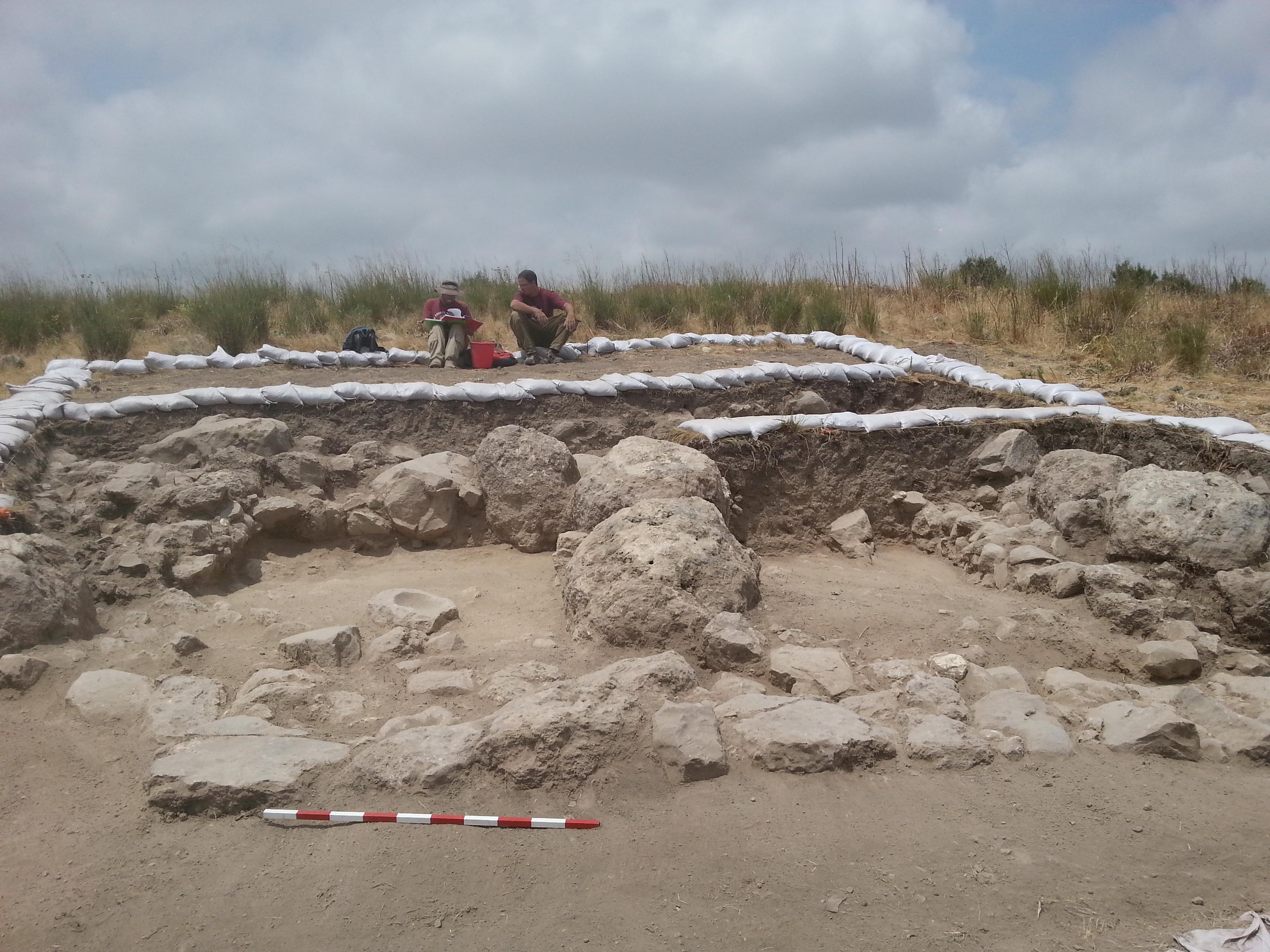 החפירה הארכיאולוגית בצקלג. צילום משלחת החפירות לחורבת אל-רעי