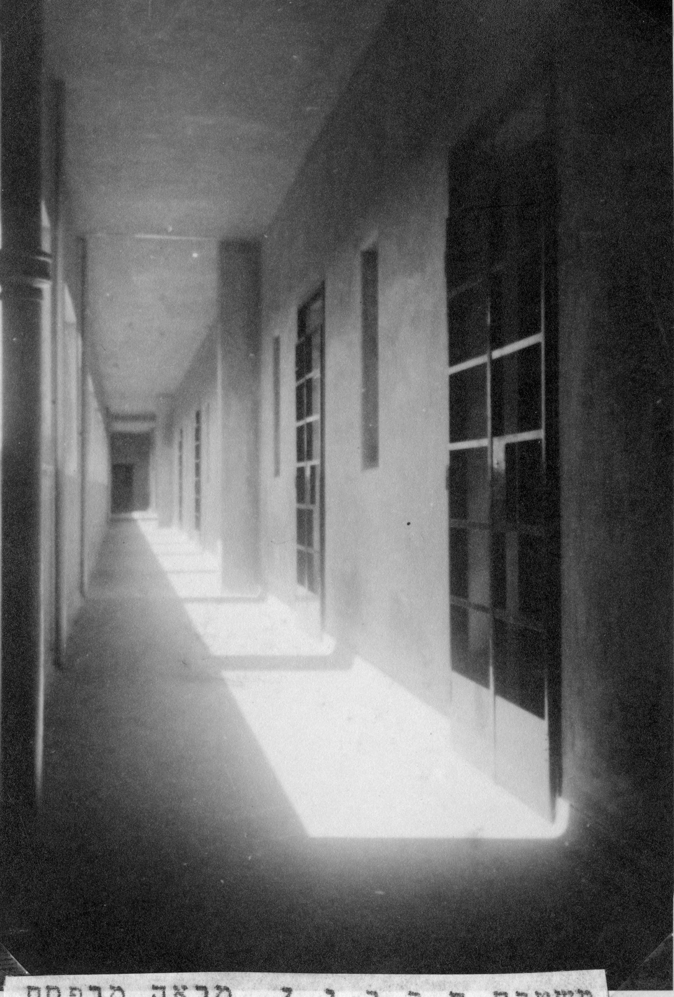 מרפסת הקומה העליונה - משטרת חברון - מקור: ארכיון המדינה