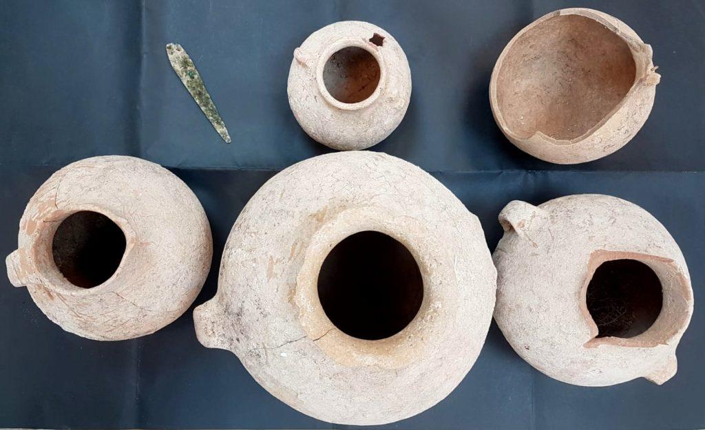 הממצאים בני ה-4500 שנה - צילום: ניר דיסטלפלד