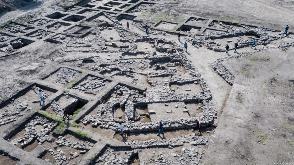 צילומים אוויריים של אתר החפירות. צילום: אסף פרץ