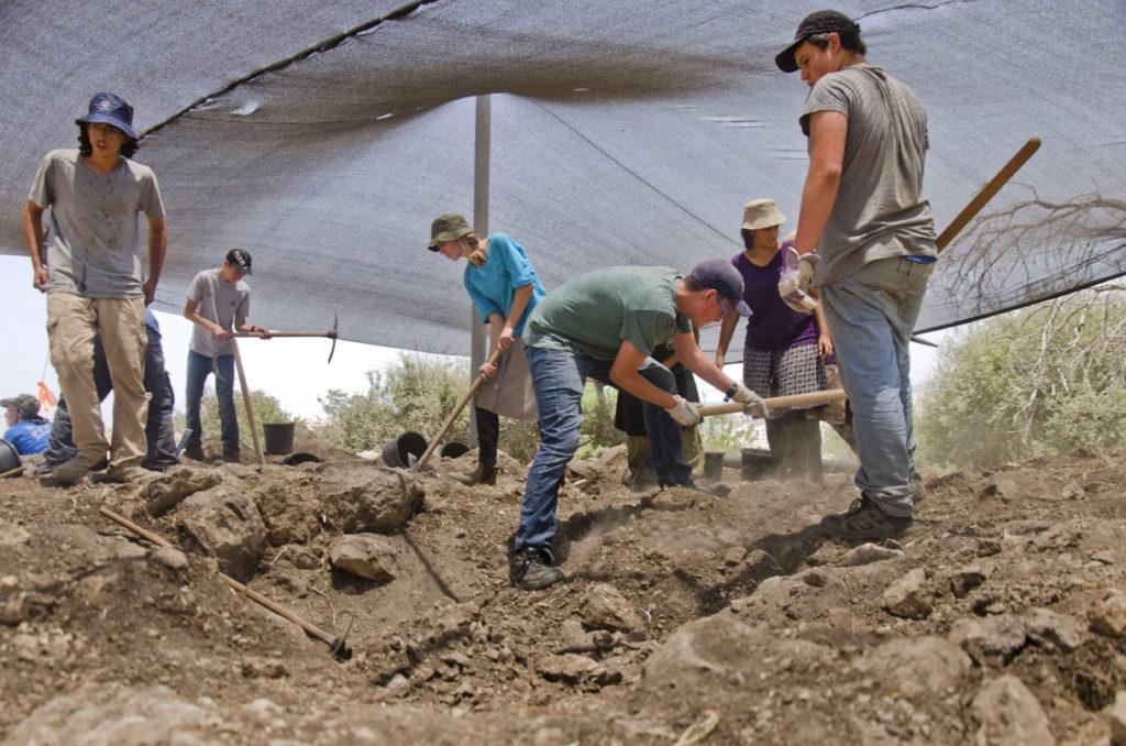 אלפי בני נוער השתתפו בחפירה במהלך 3 השנים האחרונות. צילום: יולי שוורץ