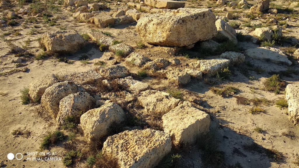 מצבות עתיקות בבית הקברות הצלבני - צילום: אפי אליאן
