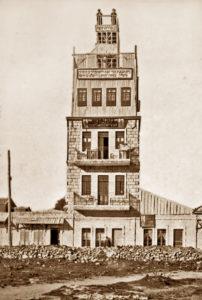 בית זהרי חמה כפי שנראה בשנת 1905 - צילום: Central Zionist Archives