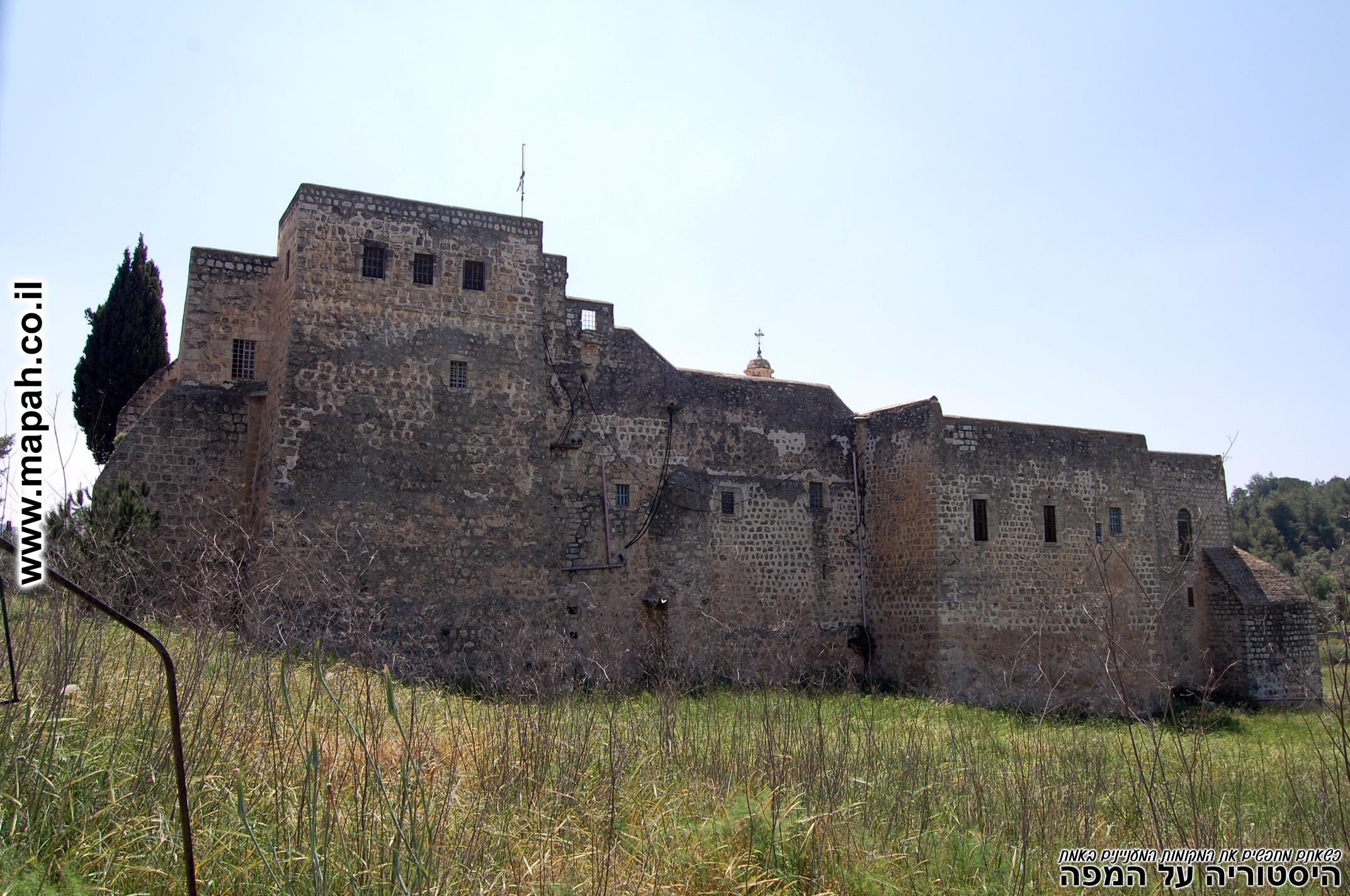 מבנה המנזר הוקם על יסודות קדומים יותר מהתקופה הביזנטית - צילום: אפי אליאן