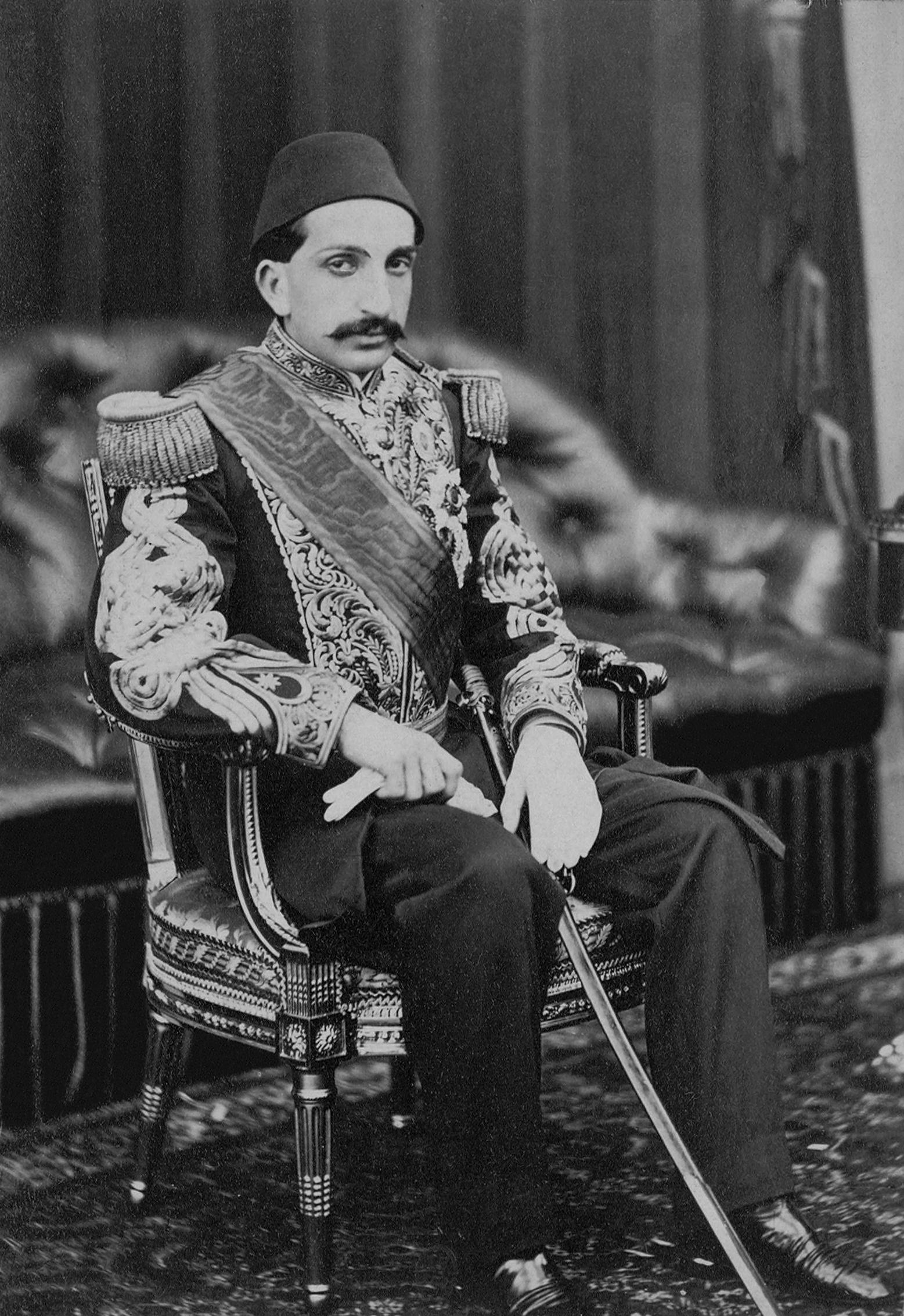 הסולטן עבדול חמיד השני כפי שצולם ב 1867 - מקור: collection at the Library of Congress