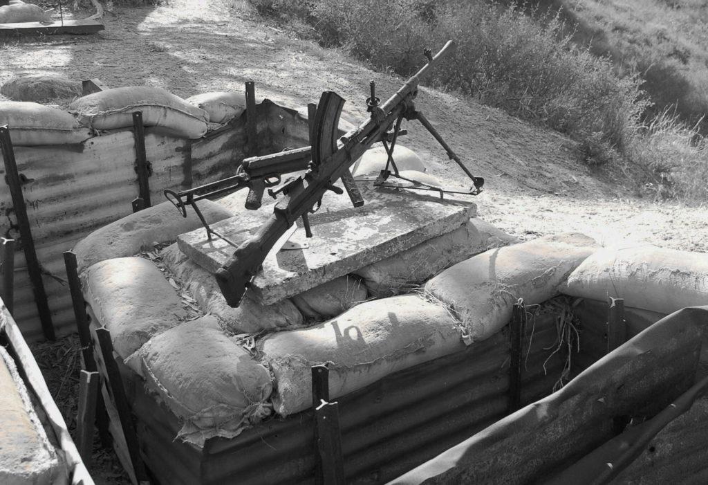 עמדת מקלע בקיבוץ יד מרדכי - צילום: אפי אליאן
