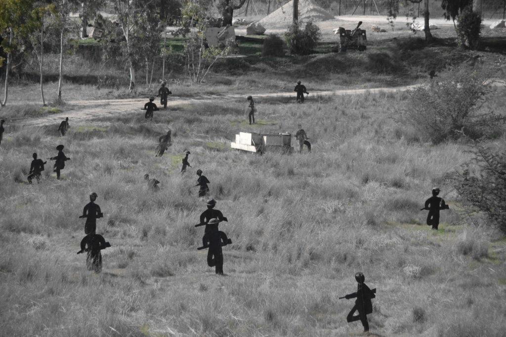 שחזור התקיפה המצרית על קיבוץ יד מרדכי - צילום: אפי אליאן