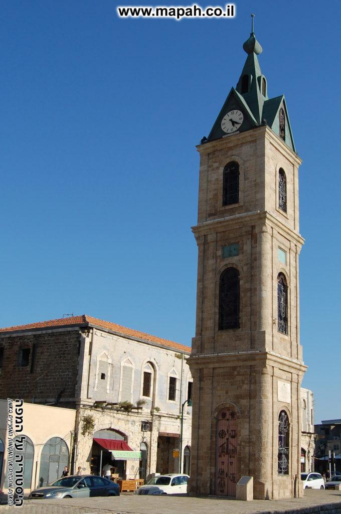 מגדל השעון בכיכר השעון יפו מצפון מערב - צילום: אפי אליאן