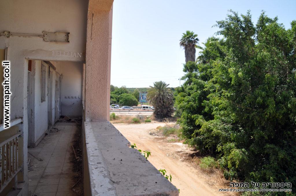 מבט מהמרפסת הצפונית של המבנה לשביל הגישה - צילום: אפי אליאן