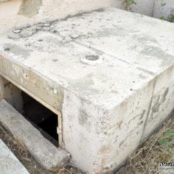 פתח יציאת החירום מהמרתף - לא קיים בשרטוטים המקוריים - צילום: אפי אליאן