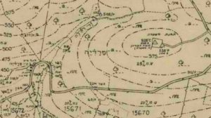 מיקוד מתוך מפה משנת 1949 - מחלקת המדידות ישראל - מקור: ארכיון גנזך המדינה