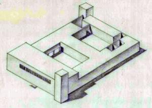 תרשים מבנה התחנה כפי ששורטט על ידי טיגארט - מקור: ארכיון גנזך המדינה