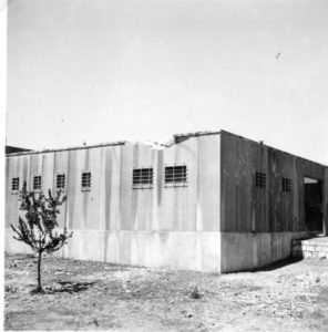 פגיעת פגז בפינה הצפון מזרחית של משטרת מטולה - 1937 - מקור: גנזך המדינה