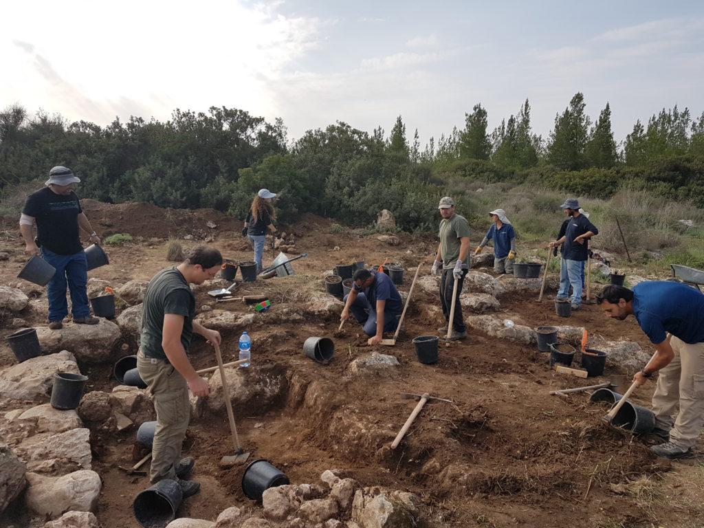 החפירה בגלאון בהשתתפות עשרות בני נוער ומתנדבים - צילום: סער גנור