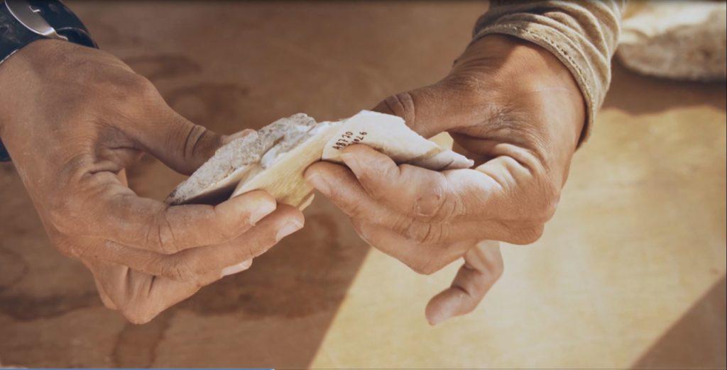 כלי צור מחפירת רשות העתיקות  ליד דימונה - צילומים: אמיל אלג'ם