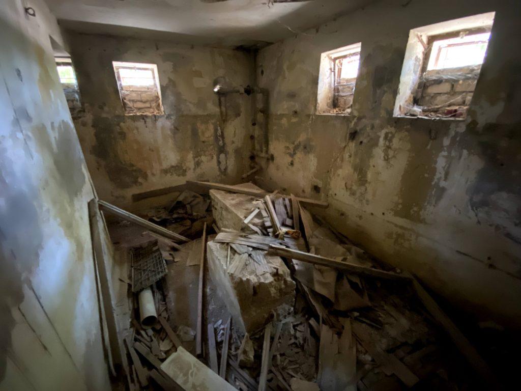 מרתף המגדל הגבוה במשטרת בית גוברין - צילום: גלב גלזקוב