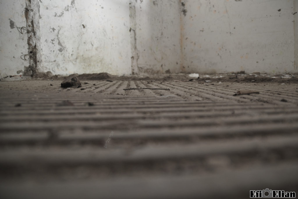 הרצפה הייחודית של אורוות הסוסים - חריצים גסים למניעת החלקה - צילום: אפי אליאן