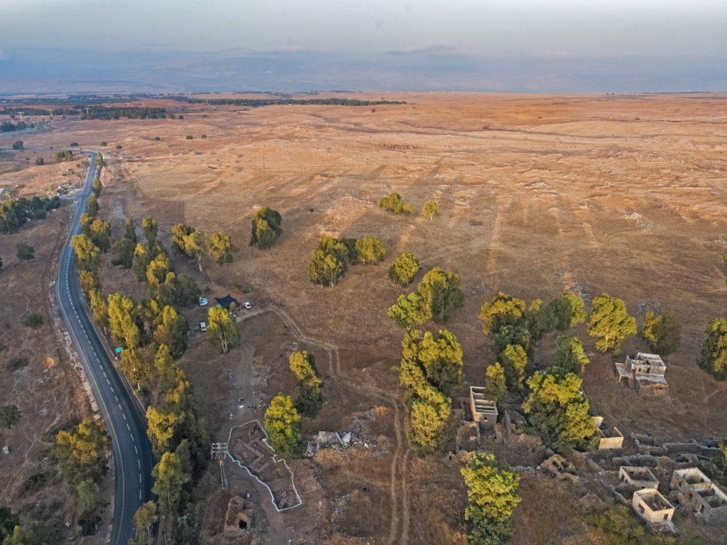 אתר החפירה בנפח - מבט אוירי. צילום אסף פרץ רשות העתיקות