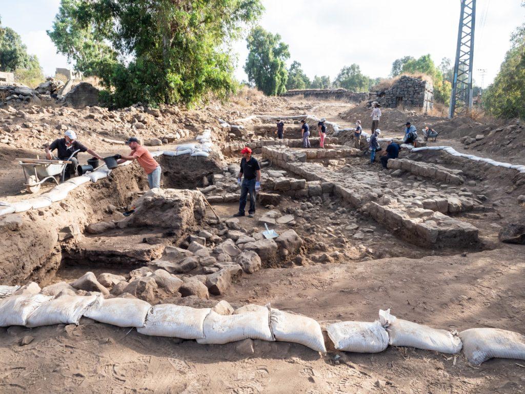 אתר החפירה בנפח - . צילום אסף פרץ רשות העתיקות