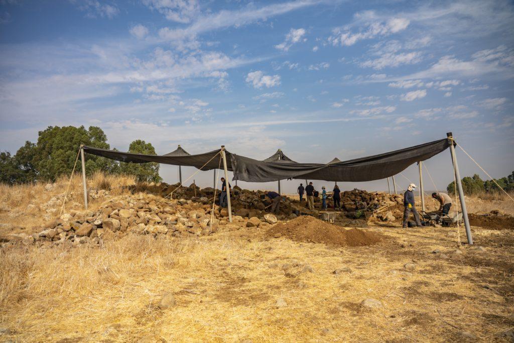 חפירת רשות העתיקות בחיספין. צילום: יניב ברמן