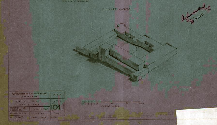 תרשים מקורי מבנה חזית וסראייה