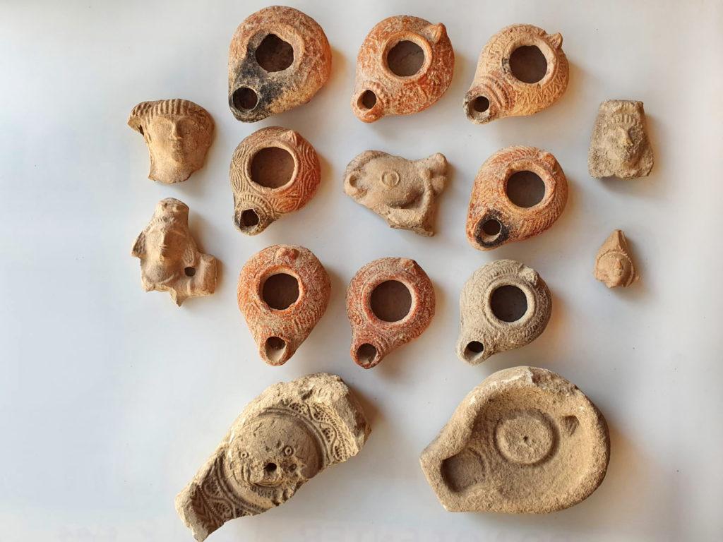 ממצאים מחפירת בית נטיף. צילום: איתי אביב