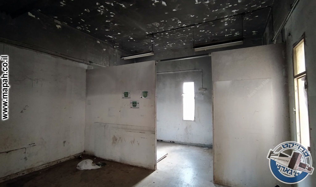 חדר האוכל אז - בהמשך - חלק ממטבח הבישול של מבנה המשטרה - צילום: מורן יונה אליאן