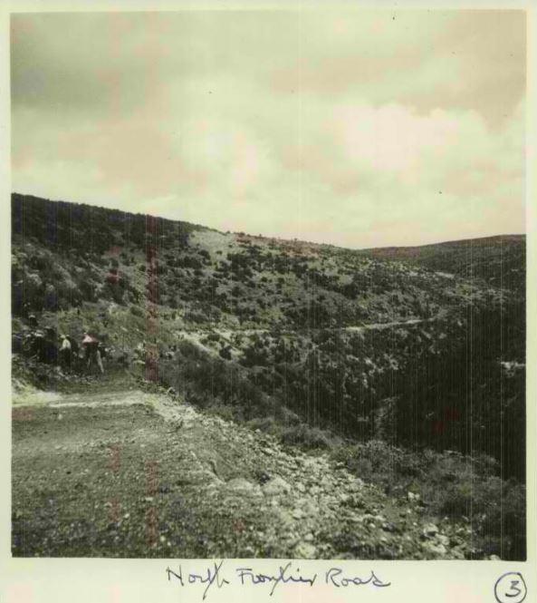 דרך הבטחון כביש הצפון בשנות השלושים - מקור: ארכיון גנזך המדינה - ארכיון המדינה