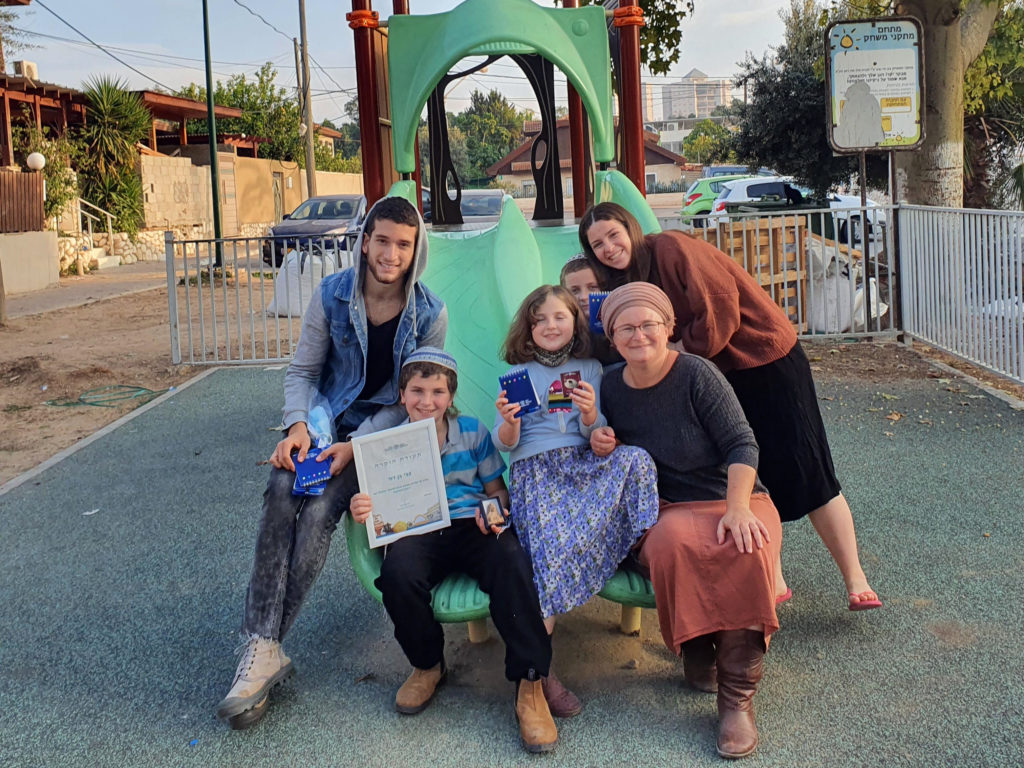 צבי בן דוד ומשפחתו - צילום: אורן שמואלי