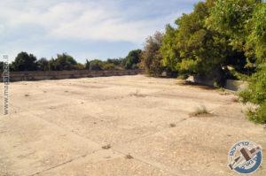 הצד הצפון מערבי של משטחי הבטון המנדטורים בהר אגר - צילום: אפי אליאן